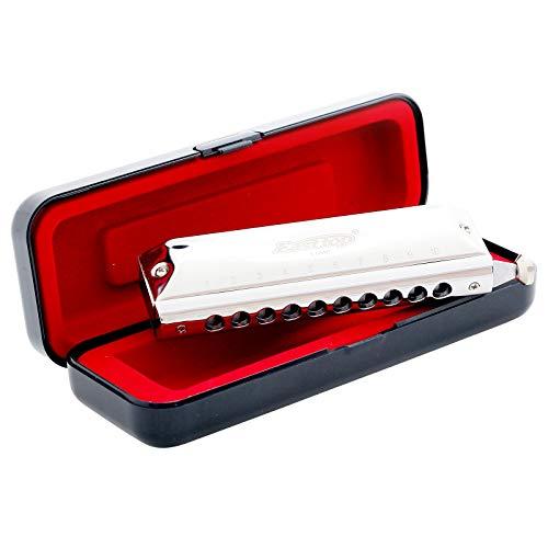 East top Armónica cromática profesional 10 agujeros 40 tonos en C, instrumento con estuche de grado superior para adultos, jugador profesional, principiante, estudiantes, como regalo de cumpleaños