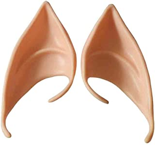 Coohole Cosplay Fairy Pixie Elf Ears Soft Pointed Ears Tips Anime Party Dress Up Costume Accessories (B)