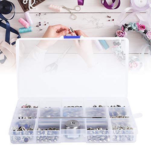 Jacksing Remaches de Cristal, práctico Conjunto de Remaches de Diamantes de imitación Resistentes al Desgaste para Cinturones para Ropa para Chaquetas para Zapatos para Bricolaje