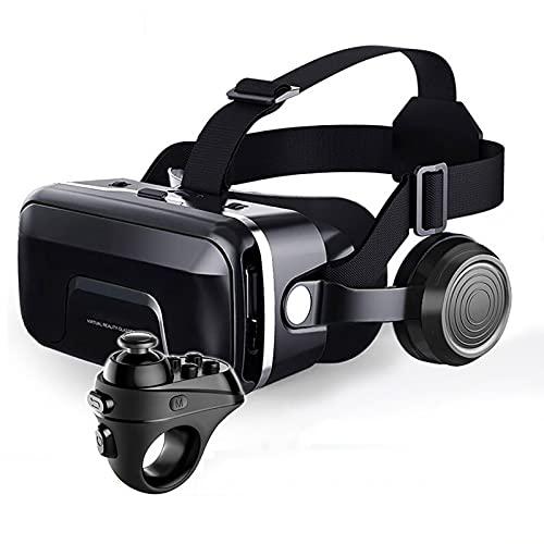 Realidad Virtual Smartphone Gafas 3D Auriculares VR Casco Estéreo Auriculares VR con Control Remoto (Color : 12R1)