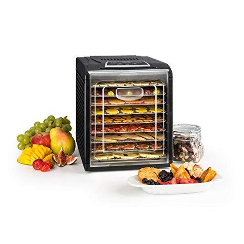 Klarstein Fruit Jerky 9 DryPower - Déshydrateur, 9 niveaux, Le goût reste intact, Réglage de la température, Minuteur, Ventilateur, Grilles amovibles, Ecran, Noir