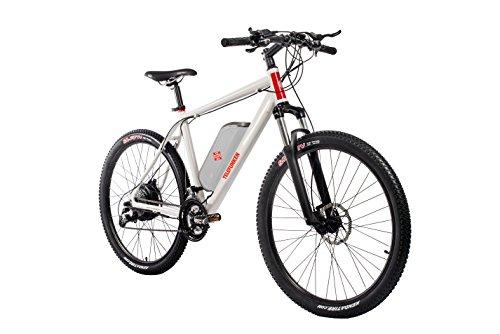 Telefunken E-Bike Mountainbike Elektrofahrrad Alu, weiß, 27 Gang Shimano Kettenschaltung - Pedelec MTB leicht, Hinterradmotor direct drive 250W , Reifengröße: 27,5 Zoll, Aufsteiger M850