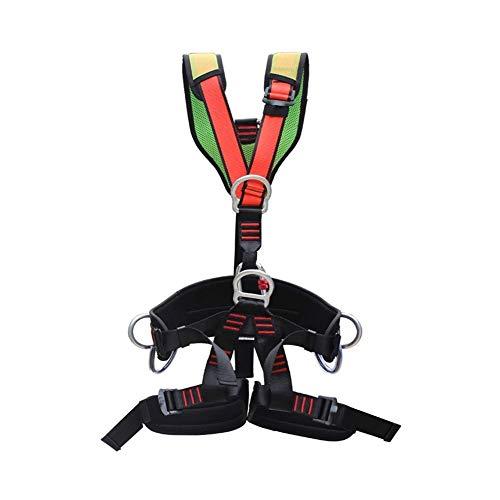 ZWWZ Sicherheitsgurt, Ganzkörper-Klettergurt, Ganzkörper-Fallschutzausrüstung, Removable Sicherheitsgurt, Persönliche Schutzausrüstung, Rücken Ring Side D-Ringe, Klettern, Downhill HAIKE