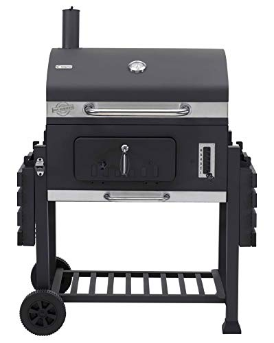 tepro Grillwagen Toronto XXL-Barbacoa de carbón Vegetal, Antracita y Acero Inoxidable, 90 cm