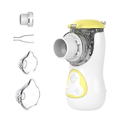 Inhalator, Tragbar Vernebler, einstellbare Nebelvolumen, mit Maske und Mundstück für Erwachsene und Kinder, für Atemwegserkrankungen