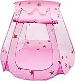 HGA Baby Teepee Carpa para Niños Carpa para Niños Casa De Juegos Carpa Antimosquitos para Bebés Habitación Interior Y Exterior Piscina De Bolas Bobo Piscina De Bolas Oceánicas,Pink