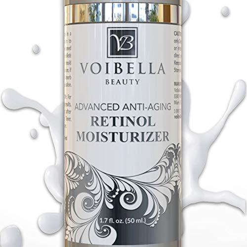Advanced Organic Retinol Night Cream & Best Natural Anti-Aging Facial Moisturizer For Women - Anti-Wrinkle, Dark Spot Remover, Collagen Booster, Pore Refining & Brightening Treatment For Face & Neck