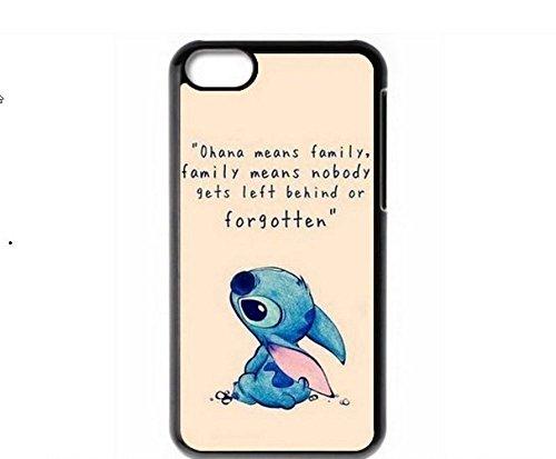 EatMyCase Punto di Ohana Custodia per iPhone 5/5S - Ohana Significa Che la Famiglia, la Famiglia Significa Che Nessuno Viene abbandonato o dimenticati