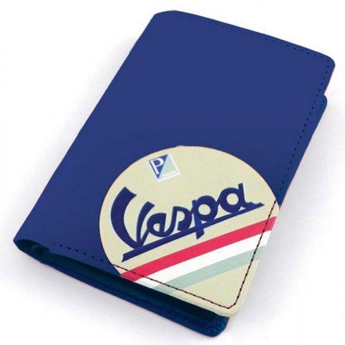 Vespa azul titular de la tarjeta