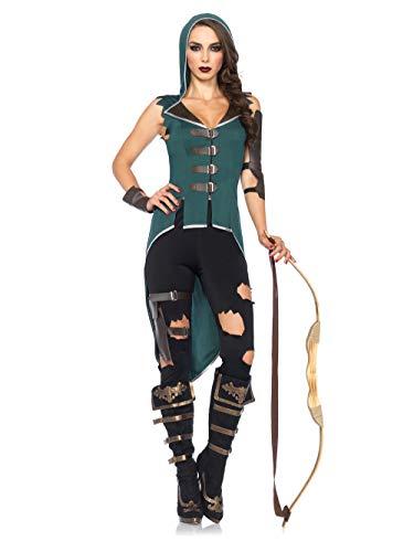 Leg Avenue 85468 - Rebel Robin Hood Costume, Taglia XS (32-34 Euro)