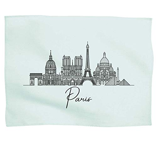 Laylawson Paris City Skyline - Paño de cocina, Mint, talla única