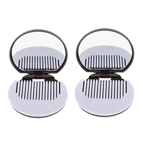 MERIGLARE Miroir Pliant En Forme De Cookie Avec Miroir Et Peigne - Café