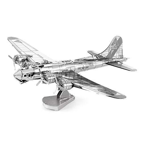 Metal Earth Modèle 3D Avion de Guerre B-17 Boeing – Maquette Puzzle 3D en Metal – Kit de Construction Adulte – 502489 – 14.7 x 11.3 x 4.3 cm