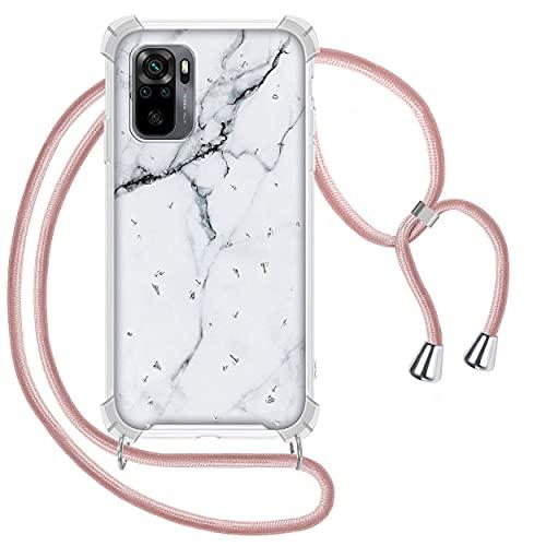 Funda con Cuerda para Xiaomi Redmi Note 10 4G/Redmi Note 10S, Glitter...