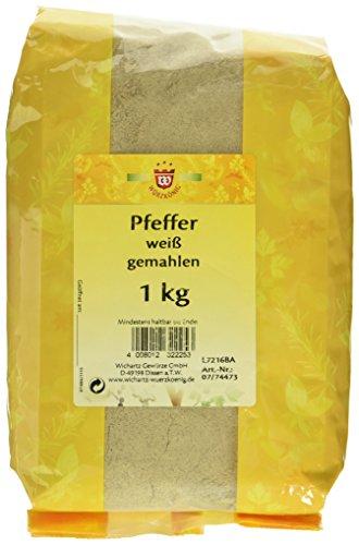 Wichartz Würzkönig Pfeffer weiss gemahlen, 1er Pack (1 x 1 kg)