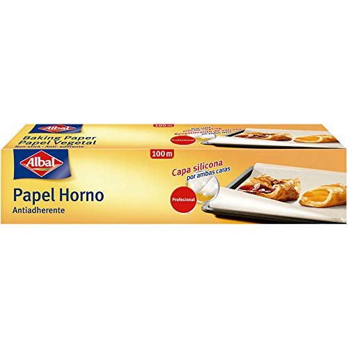 Albal Papel vegetal para horno, antiadherente, impermeable, 100 m