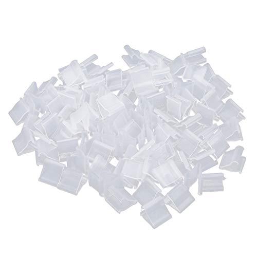 Weisin 100pcs Clear Plastic Kleine Ballonclips Krawatte zum Versiegeln V-Form Ballon Seal Clip Hochzeit Weihnachten Geburtstagsfeier Dekoration Zubehör Ballon