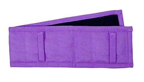 QHP Longier-Schabracke Longier Pad Synthetik mit Gurtschlaufen und Klettverschluss viele Farben (Warmblut, Passion Flower)