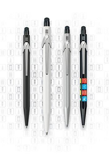 Caran d'Ache Genius Ballpoint Pen, Black Aluminum Body with 8 Classic Icons (849.202) Photo #2