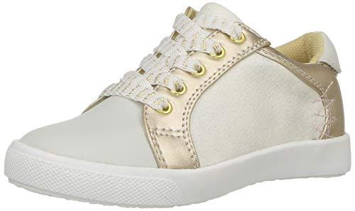 Jumping Jacks Girls' Stacy Sneaker, Bone/Soft Gold/Metallic, 29 EU/11-11.5 M US Toddler