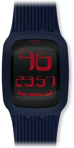 Swatch Reloj de Pulsera para Hombre Touch Dark Blue Blue Digital Cuarzo Caucho SURN101
