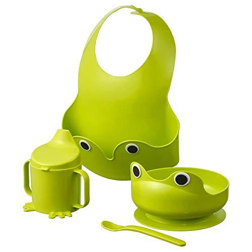 IKEA 400.848.61 MATA 4-teiliges Geschirrset, grün