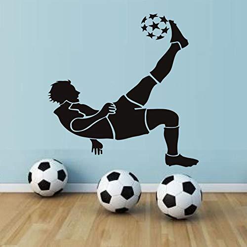 Tianpengyuanshuai Art design decoratie van het huis vinyl voetballer afneembare muursticker decoratie voetbalruimte silhouet decal