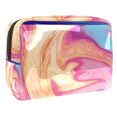 Tragbare Make-up-Tasche mit Reißverschluss, Reise-Kulturbeutel für Frauen, praktische Aufbewahrung, Kosmetiktasche, Sirup-Akkumulation
