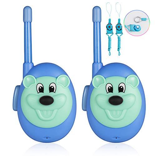 Jaybest 2X Walkie Talkies Set Kinder Funkgeräte 1KM Reichweite 8 Kanäle Walkie Talkie Kinder Geschenk Geeignet für Jungen und Mädchen (Blau)