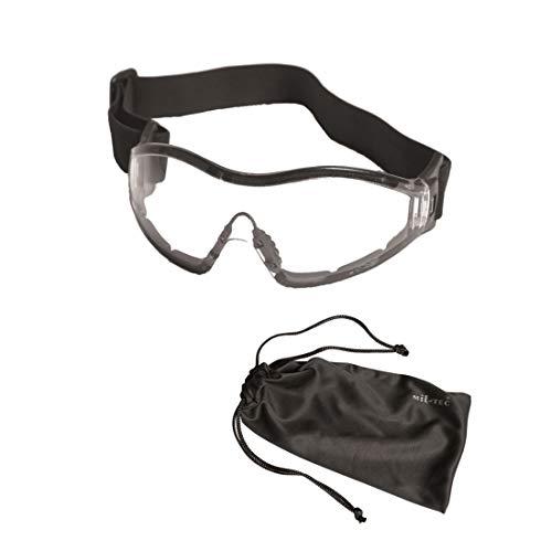 Mil-Tec–para borrar–Gafas Protectoras, Color Negro, One Size