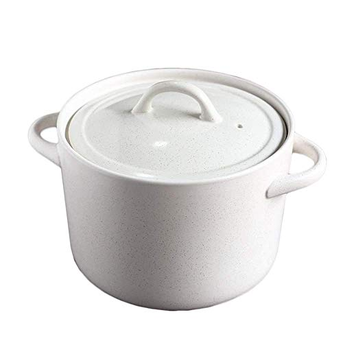 GHJA Casseruola Rotonda Casseruola Antiaderente Pentola con Rivestimento in Ceramica di Spodumene Pentola con Coperchio in Ceramica Pentole, 5,5 L
