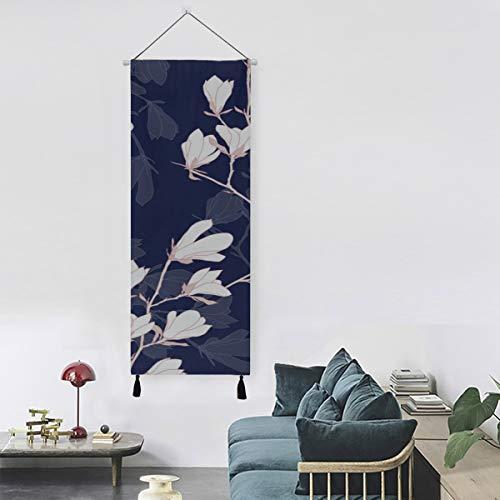 N\A Blumen und Knospen Magnolia Home Wandfarbe Wandkunst Schlafzimmer 13 Zoll Breite X 47 Zoll lang Modern Home Decor Moderne Leinwanddrucke Drucken Leinwand Stoff