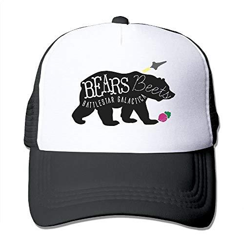Bears Beets Battlestar Galactica Men's Women's Adjustable Snapback Hats Hip Hop Caps   Baseball Caps Mesh Back