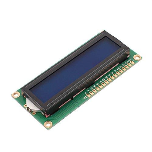 Aexit 1602A-5V Módulo de pantalla LCD para MCU letra blanca (model: I5366IIVI-7595JN) en tablero azul
