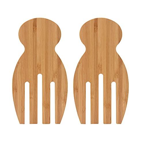 Bamboo Salad Hands, 2pcs Bamboo Salad Server,...