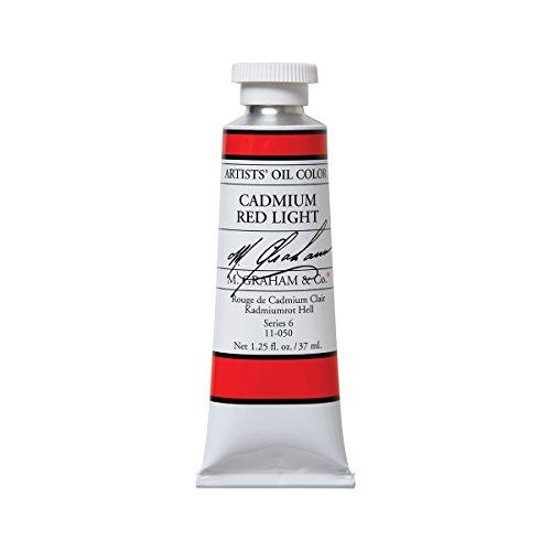 M. Graham & Co. Artist Oil Paint Cadmium Red Light 1.25oz/37ml Tube