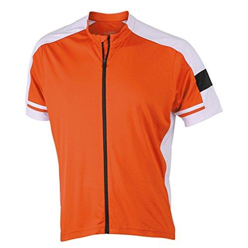 JAMES & NICHOLSON Maillot Cycliste (3XL, Orange)