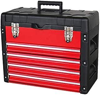 ツールボックス5段 (レッド) 工具箱 キャビネット ツールチェスト 引き出し付き 軽量 TBC-5R