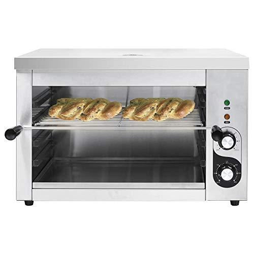 Elektrisches Überbackgerät Edelstahl 3000w Salamander Grill bartscher Gastronomie Backofen Grill-Ofen Gastro Gastronorm für Küche,bis 300°C,58 x 40 x 38 cm