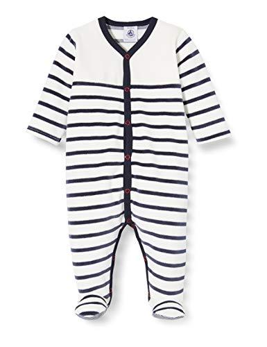 Petit Bateau Unisex Baby 5549201 Zweiteiliger Schlafanzug, Mehrfarbig (Marshmallow/Smoking Bek), 6-9 (Herstellergröße: 9 Monate)