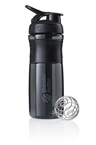BlenderBottle Sportmixer Tritan Trinkflasche mit BlenderBall, geeignet als Protein Shaker, Eiweißshaker, Wasserflasche oder für Fitness Shakes, BPA frei, skaliert bis 760 ml, 820 ml, schwarz