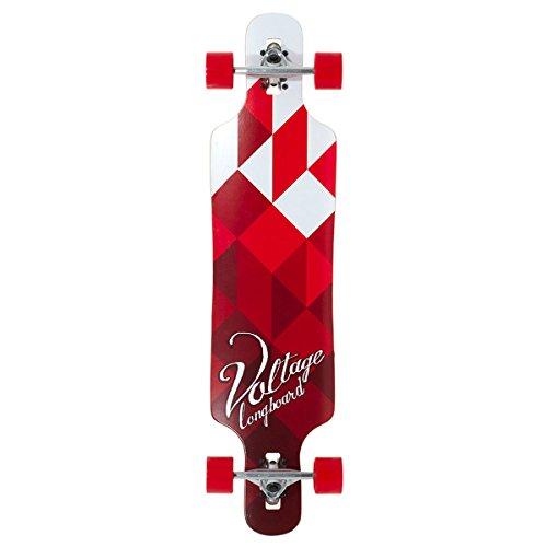 Voltage VOLLB401, Skateboard Unisex – Adulto, Bianco (Bianco/Rosso), Taglia Unica