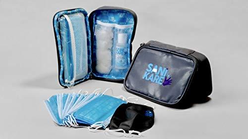 Sani-Kare Kit: Essential Masks, Gloves, and Hand Sanitizer in one travel kit