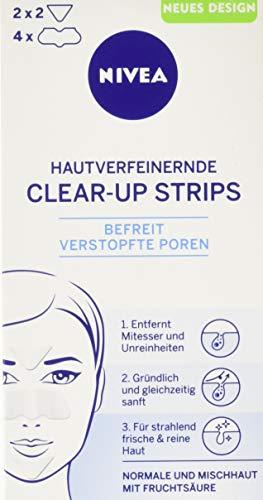 Nivea, Clear-Up Strips viso, per la rimozione di punti neri e impurità, 6 pz., 4 x naso e 2 x fronte [Tedesco]