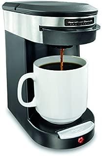 Hamilton Beach Commercial HDC200S Hospitality Coffeemaker, 1 Cup, Black/Silver, Single Serve Coffee Pod Brewer