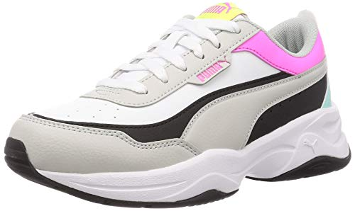PUMA Cilia Mode Damen Sneaker White-Gray-Black-Pink-Blue UK 6_Adults_FR 39