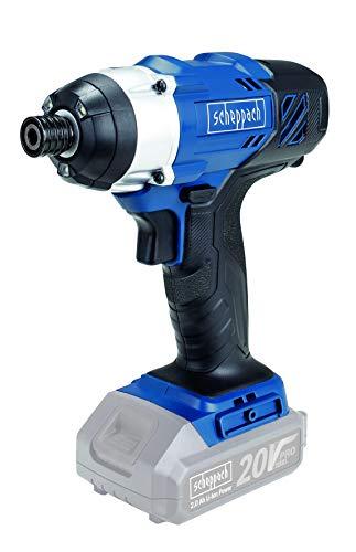 Scheppach CID150-20ProS Akkuschlagschrauber | 20V Pro Series | 150 Nm Drehmoment | 3000 bpm Schlagzahl | LED Arbeitslicht | 1/4
