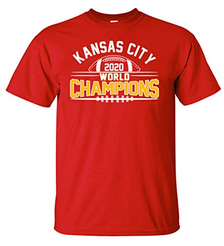 Football Fans World Champions Championship T-Shirt (M) Red