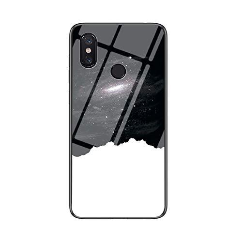 IVY Vidro Temperado Céu Estrelado Capa Case para Xiaomi Mi Max 3 Case - F