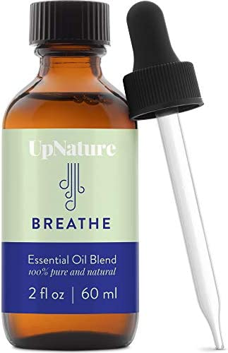 Breathe Essential Oil Blend 2 OZ Breathe Easy for Allergy Sinus Cough and Congestion Relief product image